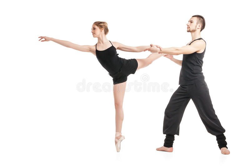 Ballet couple dancing royalty free stock photography