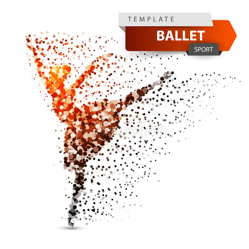 Ballet, dance, girl - dot illustration. royalty free illustration