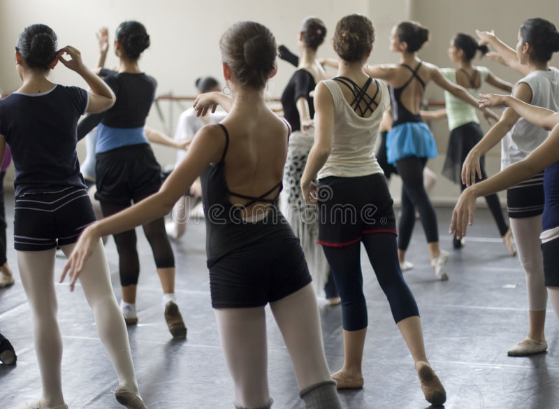 Ballet dance practice royalty free stock images