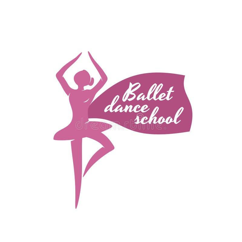 Ballet Dance School Logo Template. Stock Image - Image of classical ...