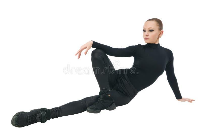Download Ballet dancer stock image. Image of horizontal, black - 15199619