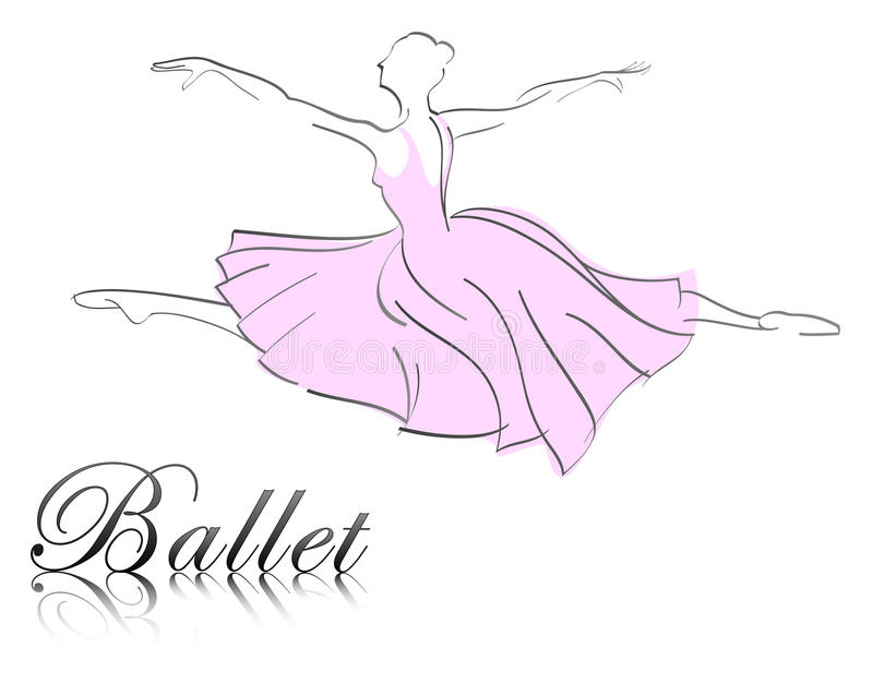 Ballet dancer stock illustration