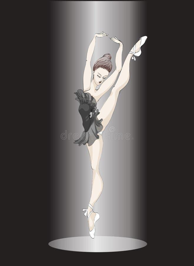 Ballet-dancer illustration stock