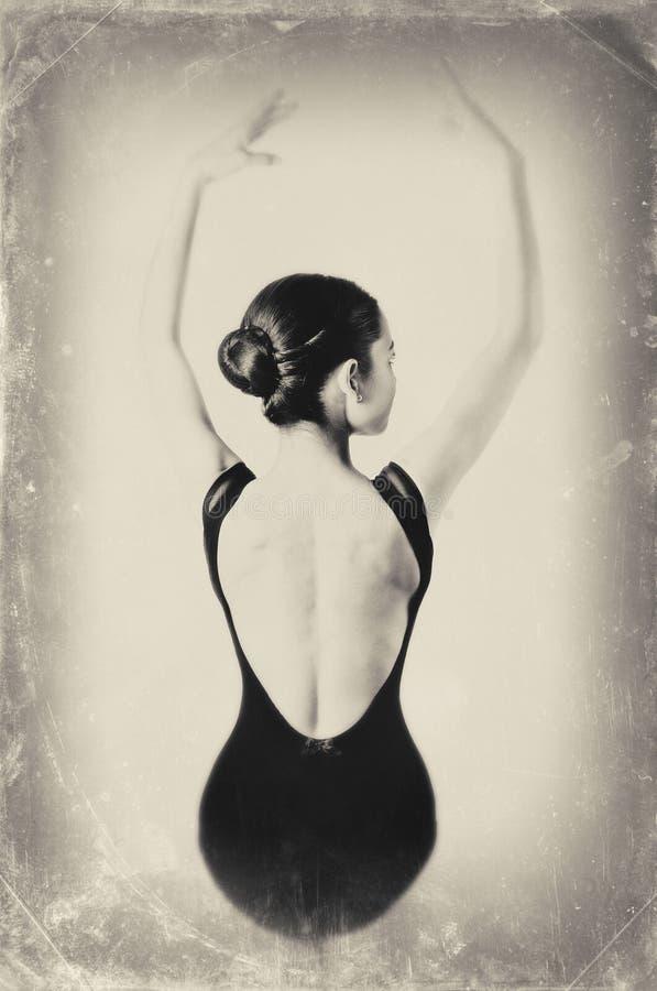 Download Ballet Dancer stock photo. Image of salted, vintage, paper - 28195494