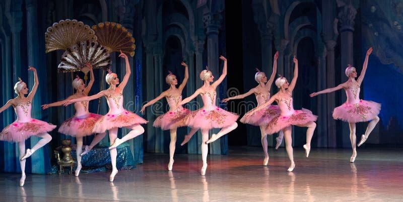 Ballet dancer ballerina dancing during ballet Corsar royalty free stock image