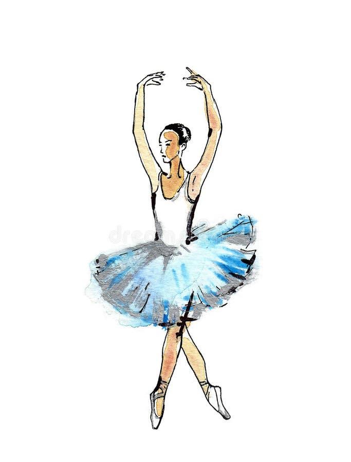 Ballet dancer stock illustration. Illustration of handmade - 59784647