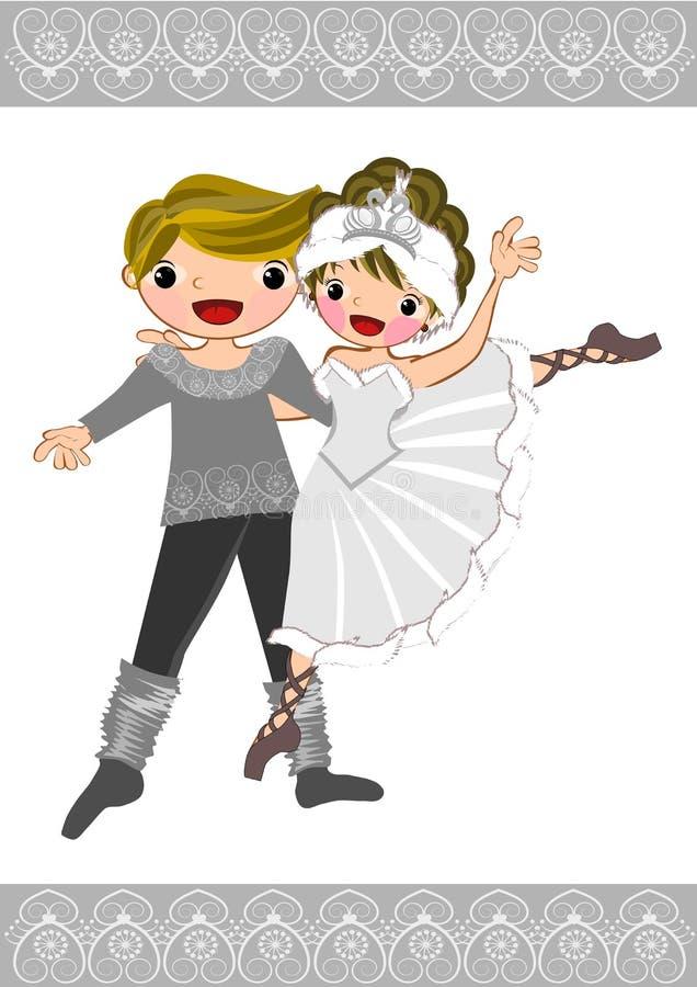 Ballet dancer couple royalty free stock photos