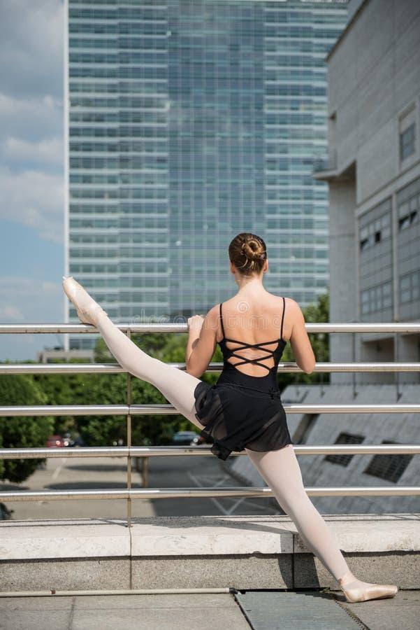 Ballet Dancer Dancing On Street Royalty Free Stock Image