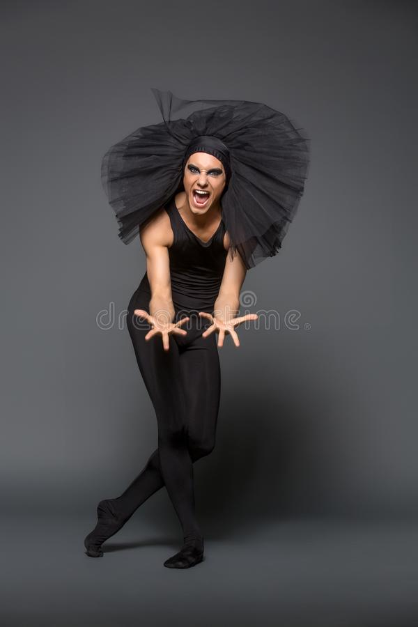 Handsome Ballet Artist In Tutu Skirt Stock Photo - Image Of Jump, Elegance 120766784-9026
