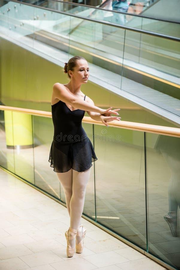 Download Ballet Dancer At Escalator Stock Image - Image: 25148261