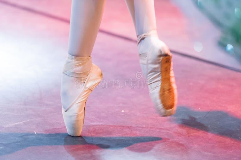Ballet dancer feet stock photography