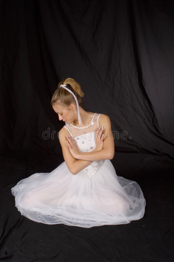 Ballet Dancer - Full Length royalty free stock photography