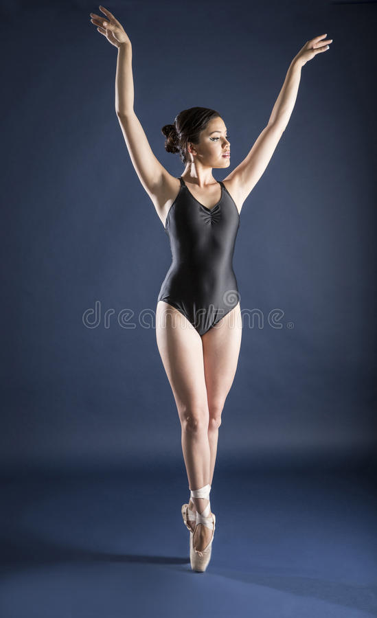 Ballet dancer and Gymnast. Gymnast and dancer performing actions. Acrobatic gymnastic royalty free stock photos