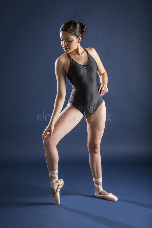Ballet dancer and Gymnast. Gymnast and dancer performing actions. Acrobatic gymnastic royalty free stock images