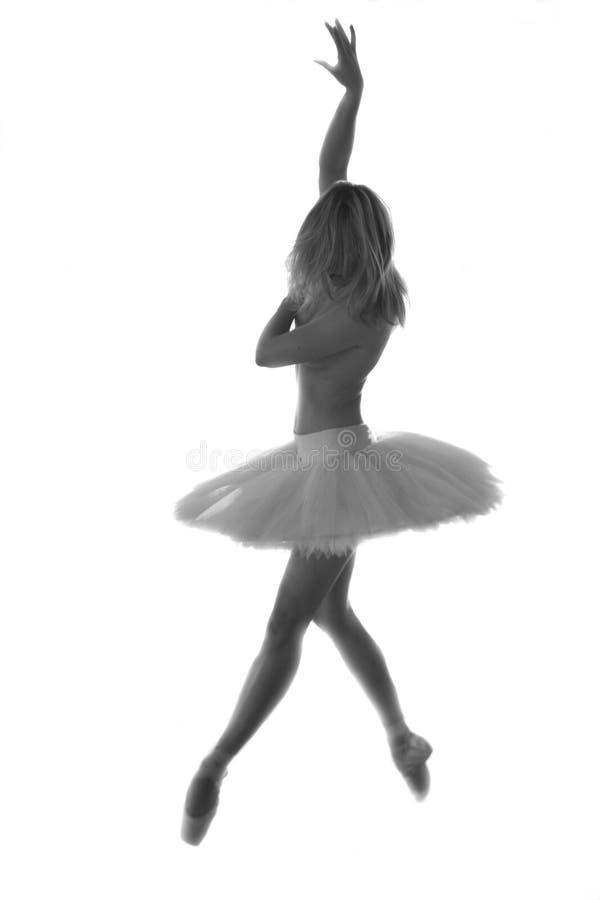 Ballet dancer performing in studio stock photo