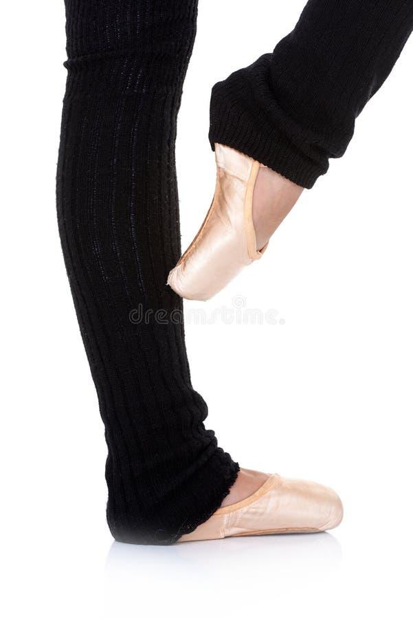 Ballet dancer posing en pointe