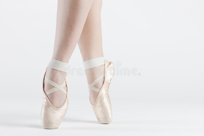 Ballet dancer's feet royalty free stock photos