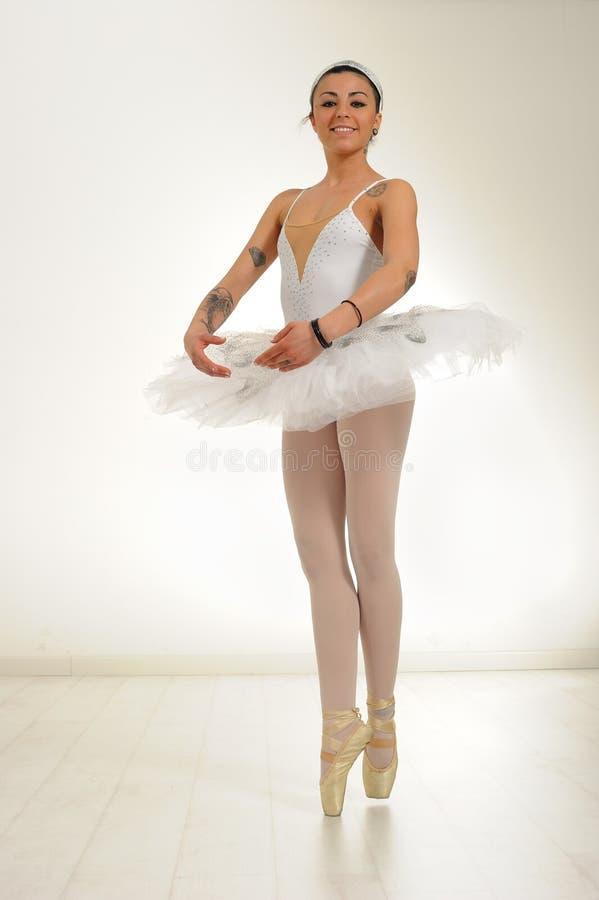Ballet dancer tattooed royalty free stock image