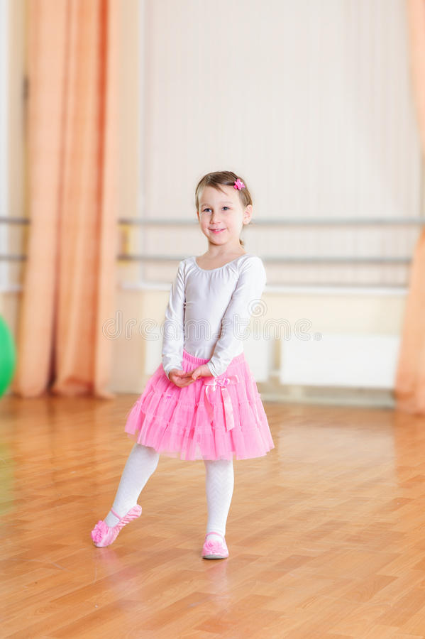 Ballet dancer at training class royalty free stock image
