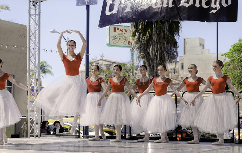 Ballet Dancers, ArtWalk, San Diego stock photo
