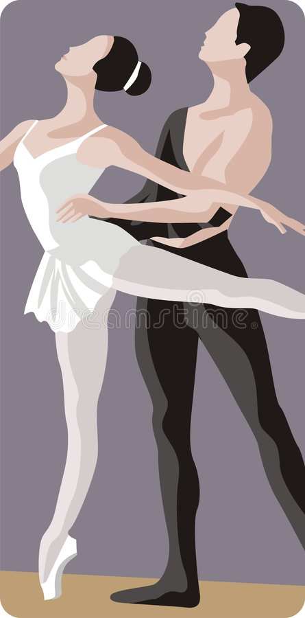 Ballet Dancers Illustration royalty free stock photos