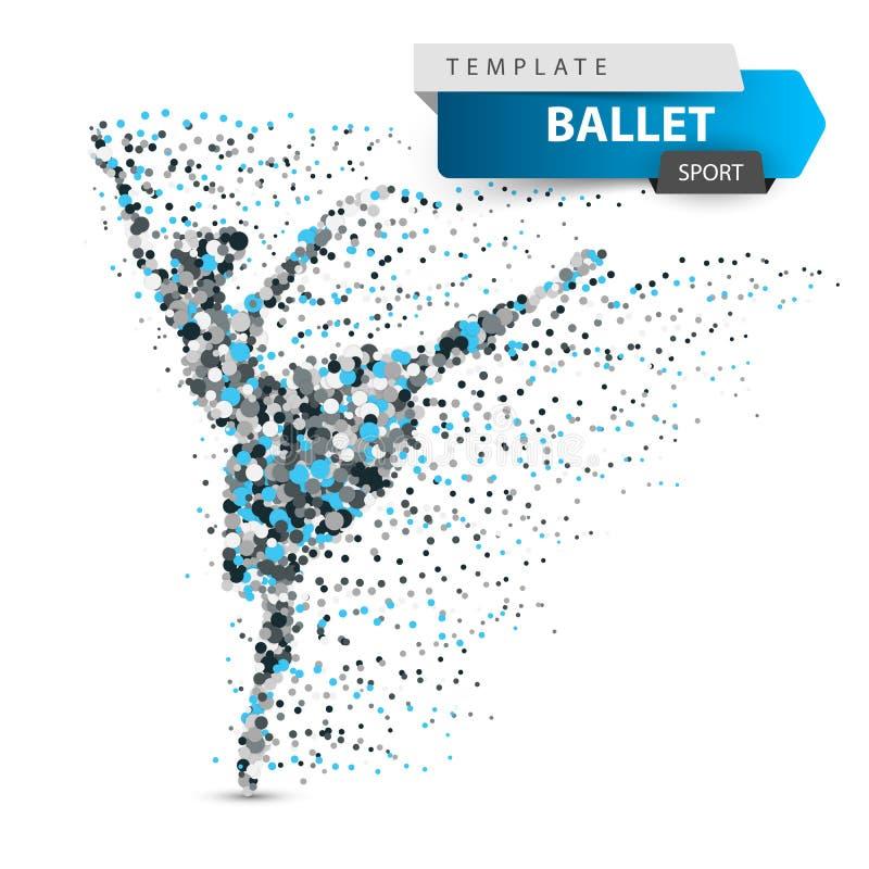 Ballet, danza, muchacha - puntee el ejemplo libre illustration
