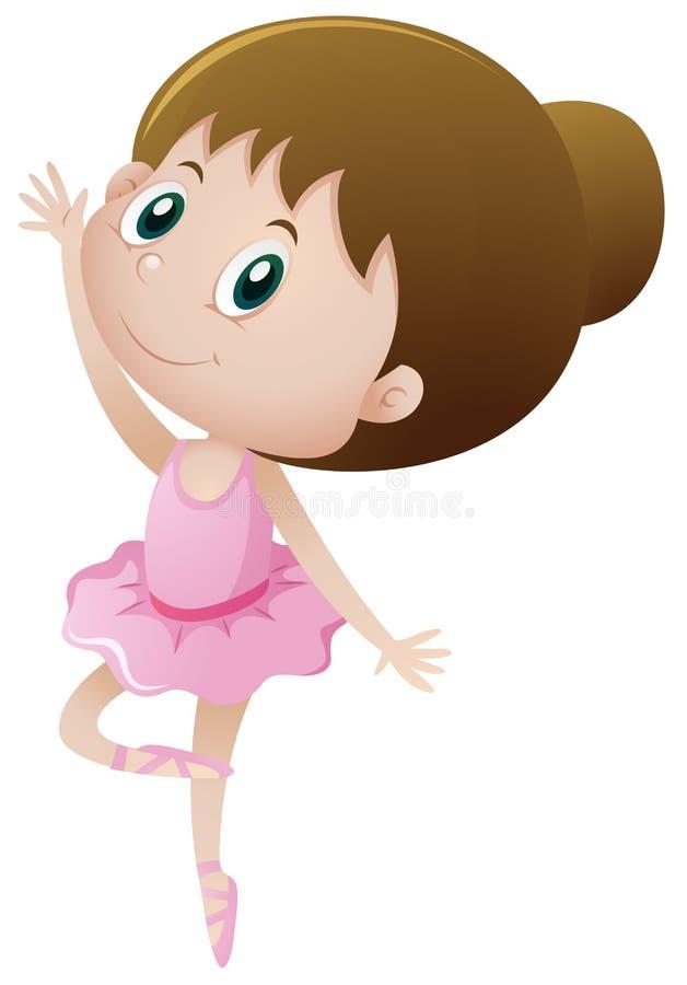 Ballet de danse de petite fille illustration de vecteur