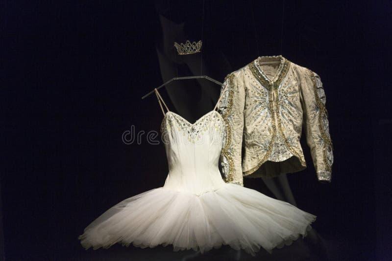 Ballet en hartstochtstentoonstelling in Museum van Kunsten en Ambachten in Zagreb, Kroatië royalty-vrije stock foto