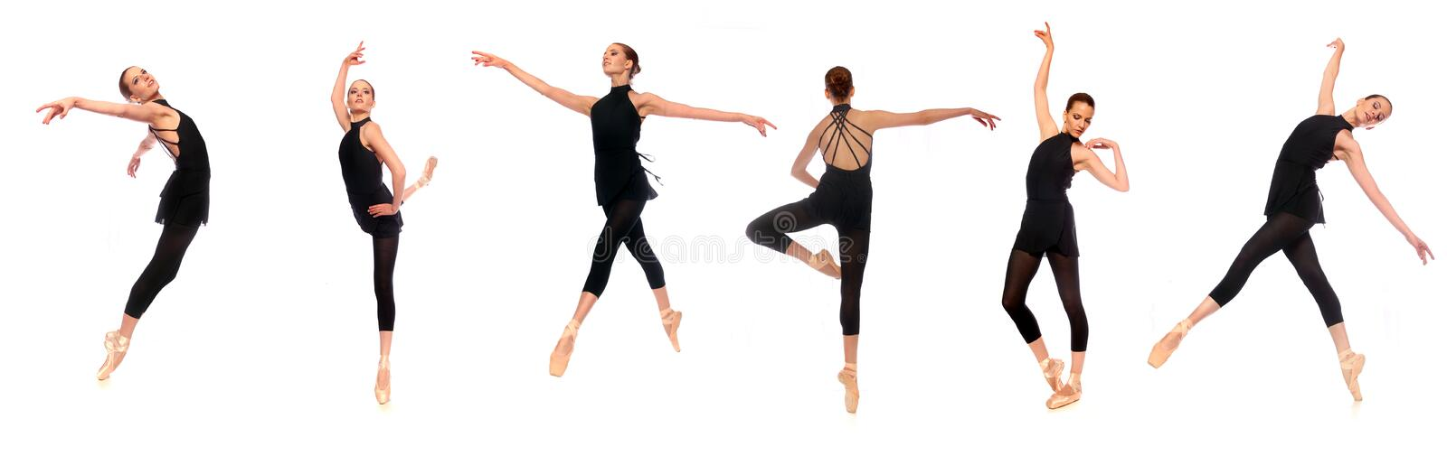 Download Ballet En Pointe Poses In Studio Stock Image - Image: 22604759