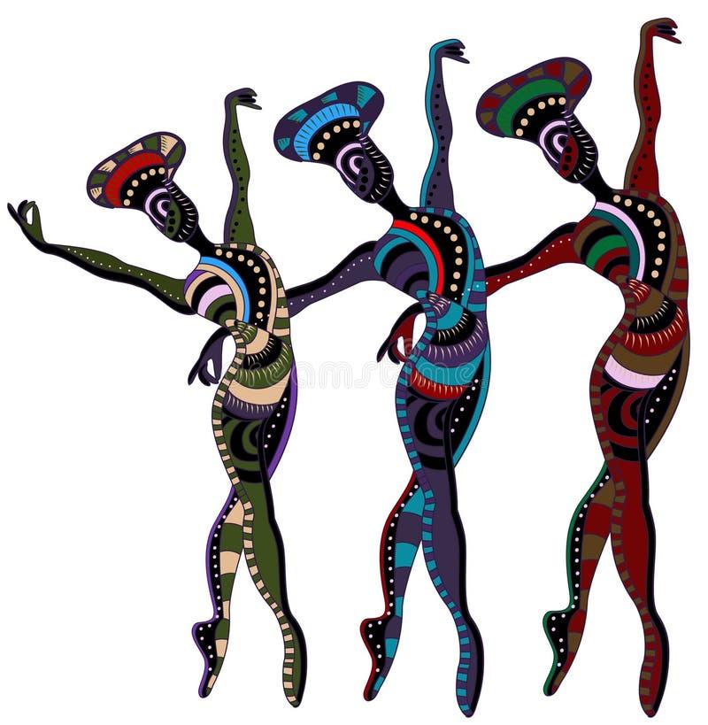 Ballet ethnique illustration de vecteur