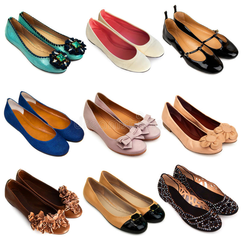 Ballet flat shoes-3 royalty free stock photography