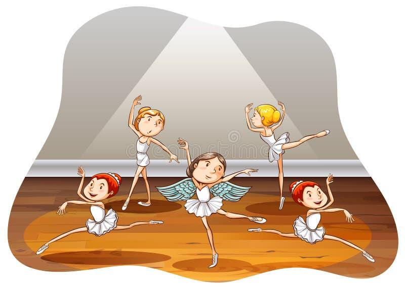 Ballet royalty free illustration
