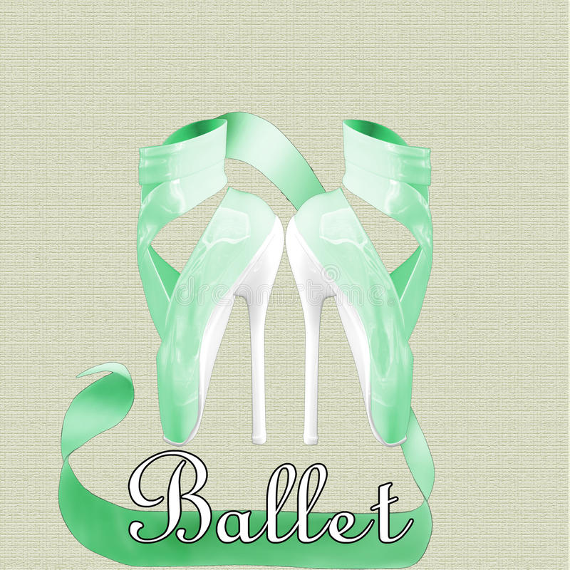 Ballet Heels royalty free stock photography