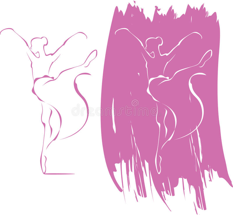 Download Ballet icon stock vector. Image of girls, position, white - 19300249