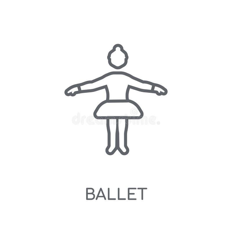 Ballet lineair pictogram Modern het embleemconcept van het overzichtsballet op wit royalty-vrije illustratie