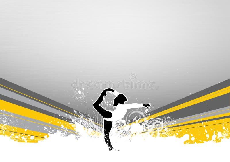 Ballet ou gymnastique illustration libre de droits