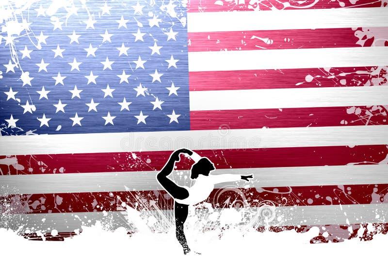Ballet ou gymnastique illustration stock