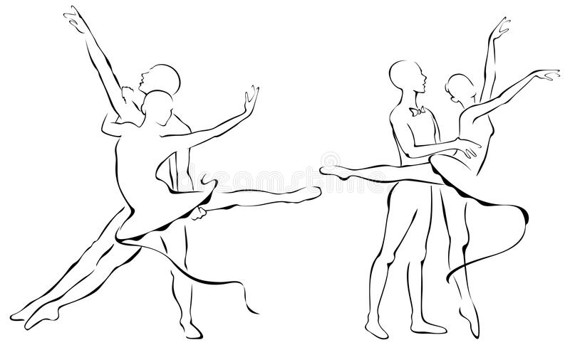 Ballet Partners Design Royalty Free Stock Photo