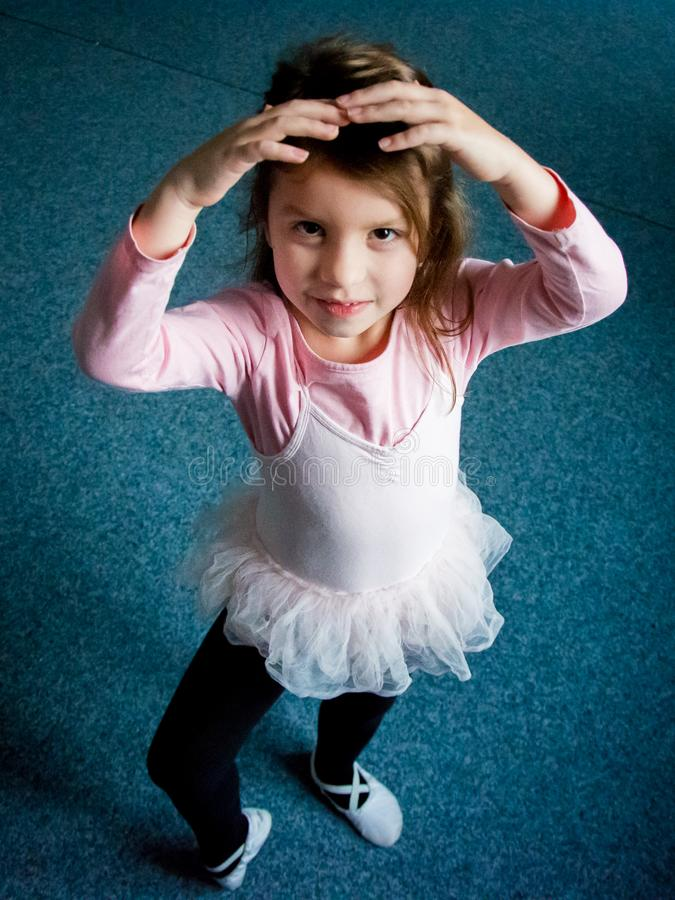 Ballet pose girl stock photo