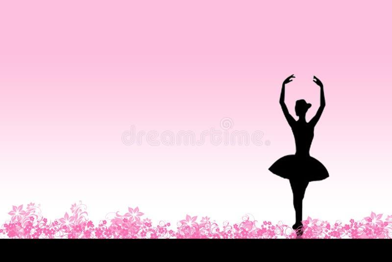 Ballet rose illustration de vecteur
