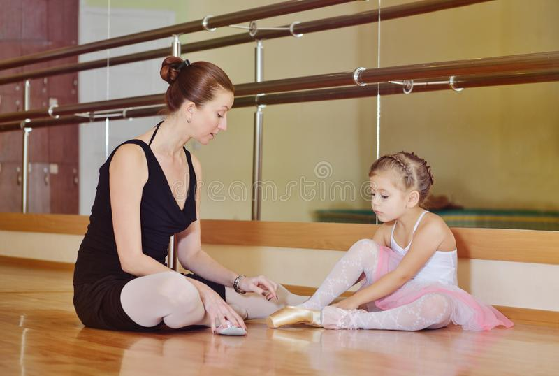 In the ballet school stock images
