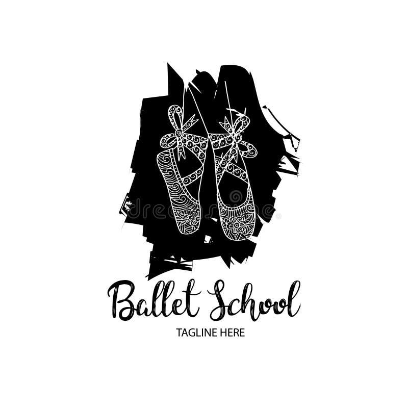 Ballet school logo. Vector illustration royalty free illustration