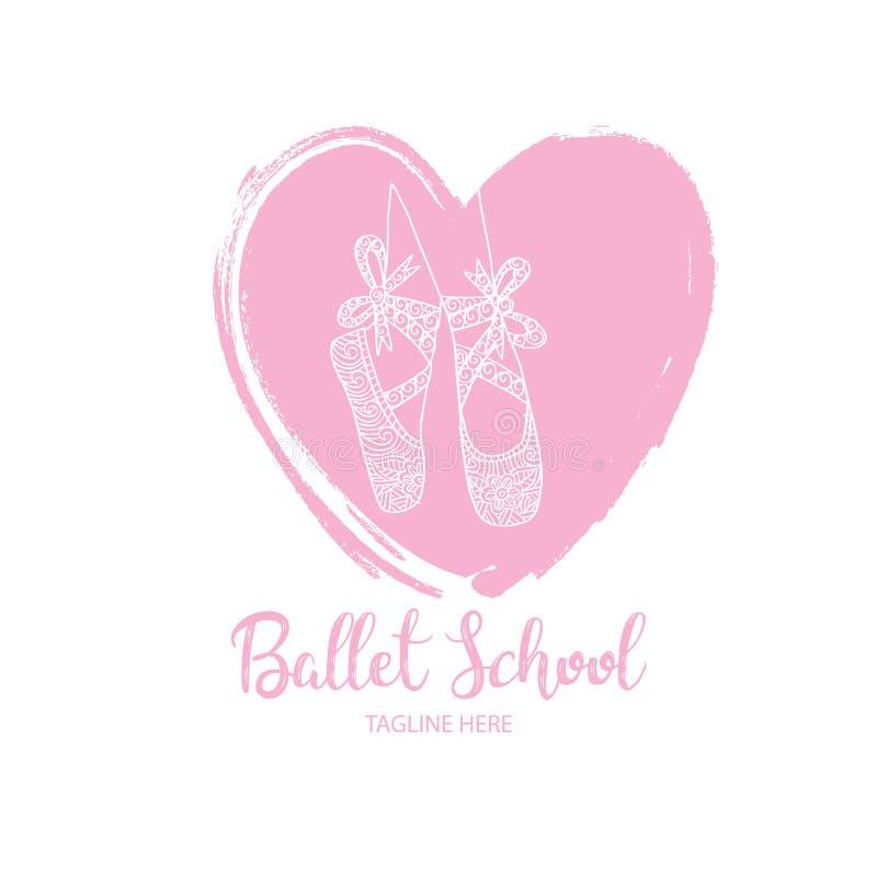 Ballet school logo vector illustration