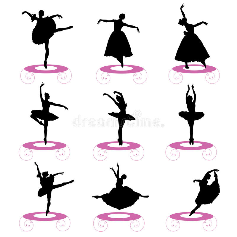 Ballet Set Royalty Free Stock Photos