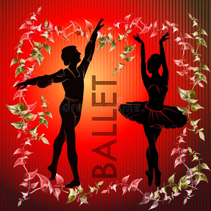 Ballet. Silhouette of feet of dancing people stock photography