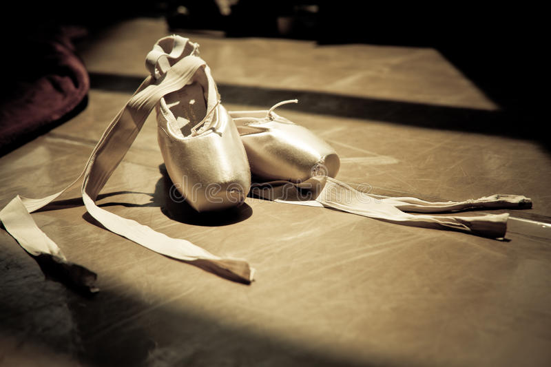 Ballet slippers royalty free stock photography