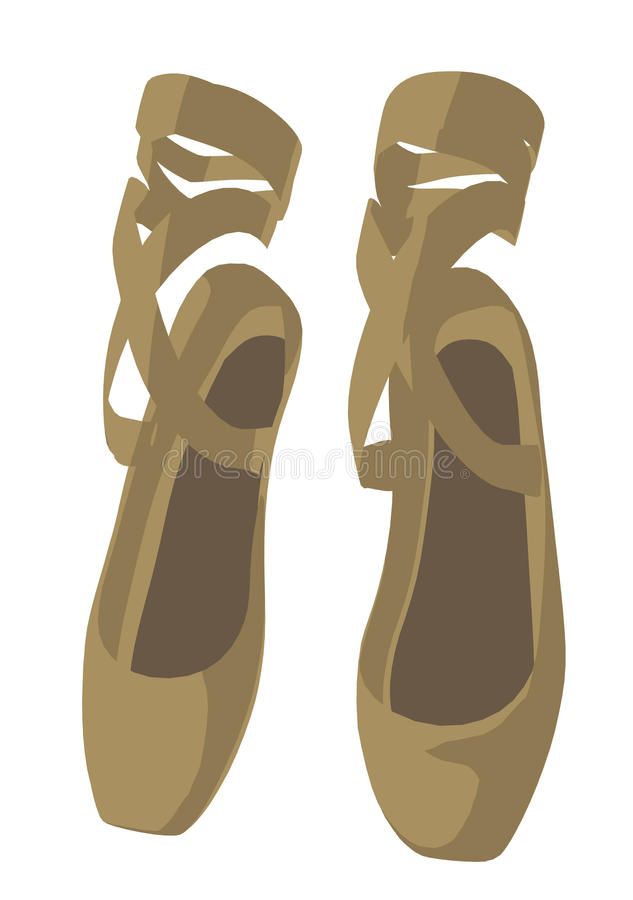 Download Ballet Slippers stock illustration. Illustration of graphics - 16427398