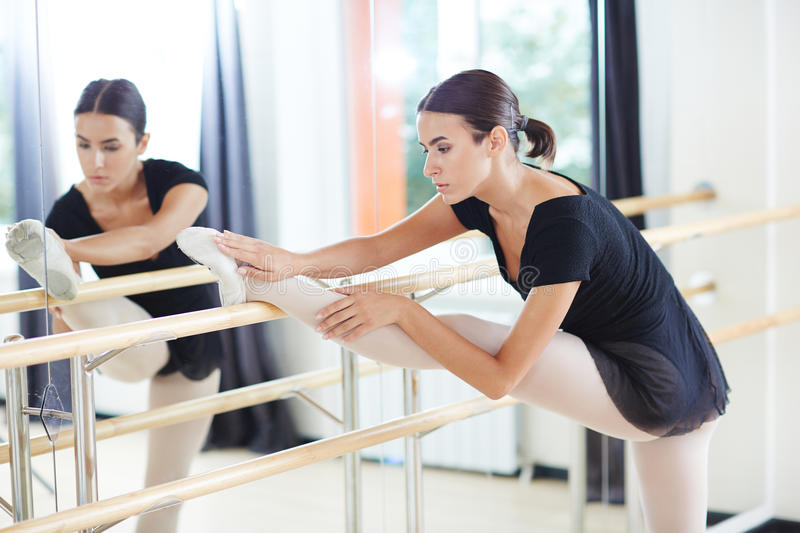 Ballet stretching royalty free stock images