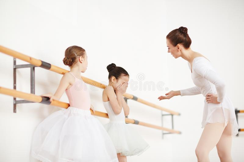 Ballet trouble stock images