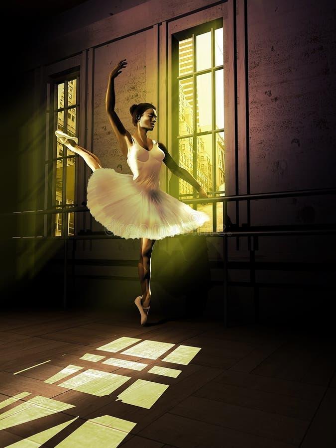 Ballet traning illustration stock